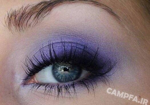 مدل سایه چشم های بنفش جدید - www.campfa.ir