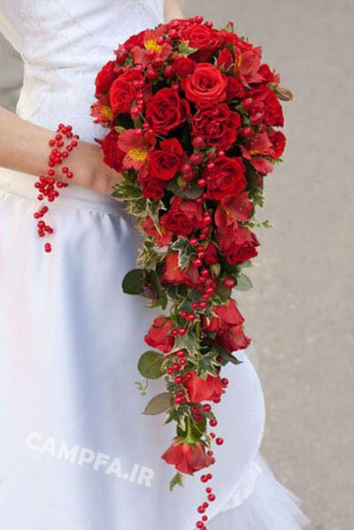 مدل جدید دسته گل آبشاری عروس - www.campfa.ir