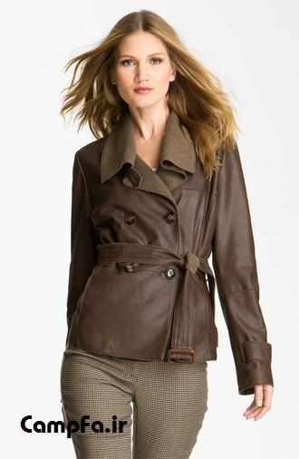 ,مدل کت و پالتو چرم,کت چرمی زنانه CampFa.ir