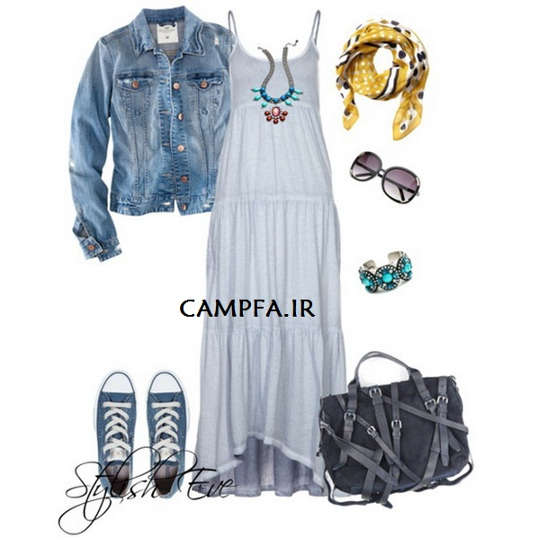 CAMPFA.IR ست لباس ماکسی همراه با لوازم متناسب با آن 2013