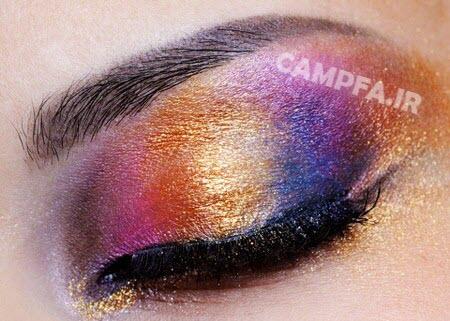 انتخاب رنگ سایه مناسب چشم - www.campfa.ir