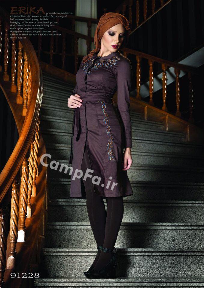 مانتو بلند با چه کفش شلواری بپوشم مدل مانتو بلند با حجاب اسلامی.