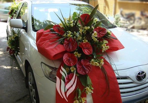 ماشین عروس,گل زدن ماشین عروس