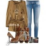 ست لباس قهوه ایی زنانه سال 2013