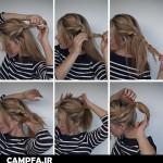 آموزش تصویری یک مدل موی جذاب و زیبا