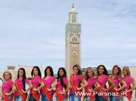 جنجال عکس یادگاری دختران نیمه برهنه جلوی یک مسجد! www.campfa.ir