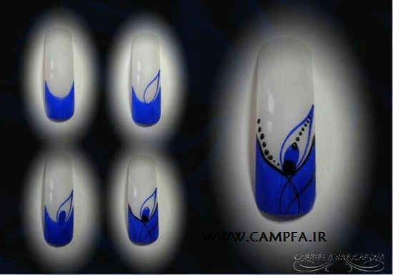 CAMPFA.IR آموزش طراحی روی ناخن (تصویری)