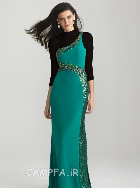 مدل لباس مجلسی ساده و بلند 2013 www.campfa.ir