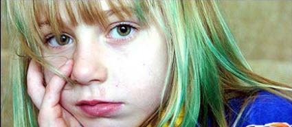 سبز شدن موهای دختری که به استخر رفته بود! www.campfa.ir