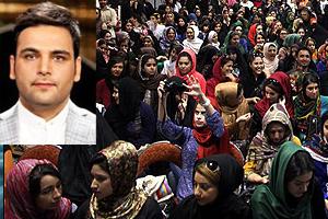 احسان علی خانی , عکس های اجرای علی خانی در بزرگداشت ماندلا , عکس های دختران طرفدار احسان علی خانی , دختران عاشق احسان علی خانی در بزرگداشت نلسون ماندلا