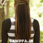 آموزش تصویری یک بافت موی ساده و شیک