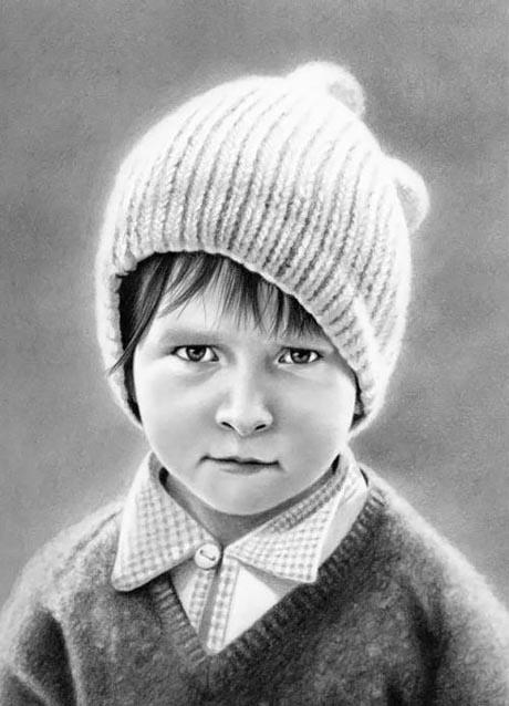 عکس جدید از طراحی چهره با مداد www.campfa.ir