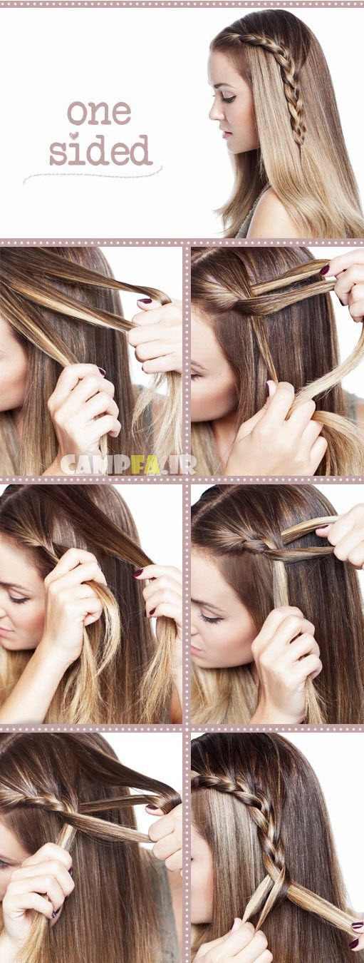 عکس های جالب و دیدنی آموزش بافت مو های زنانه| wWw.CampFa.ir