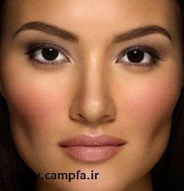 آرایش صورت مخصوص پوست تیره رنگ و چشم قهوه ای - www.campfa.ir