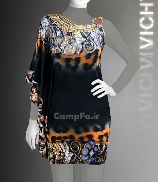 مدل لباس شب کوتاه زنانه طرح ویچی 92 CAMPFA.IR