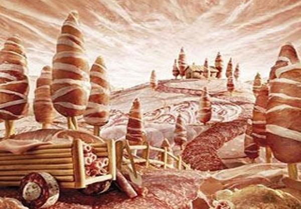 خلق نقاشی های بی نظیر و باورنکردنی بامیوه وسبزیجات