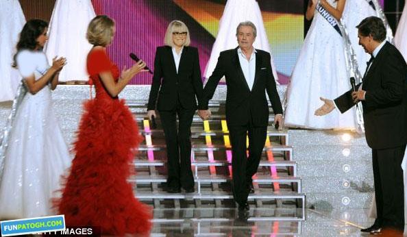 آلن دلون در مراسم انتخاب ملکه زیبایی ۲۰۱۲ فرانسوی+ عکس|www.campfa.ir