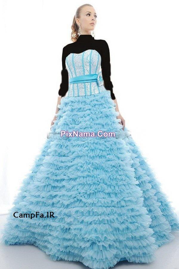 مدل لباس مجلسی پفی بسیار قشنگ سال 2013