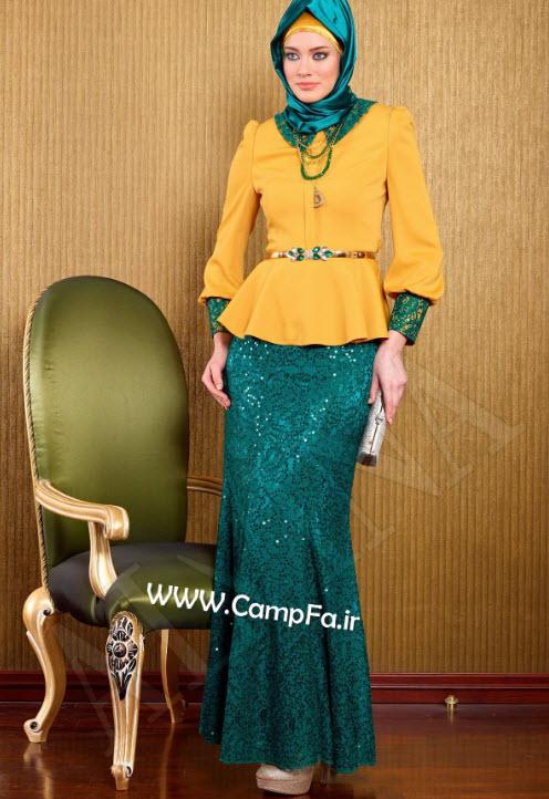 مدل لباس باحجاب ترکی 2013 در رنگ های شاد