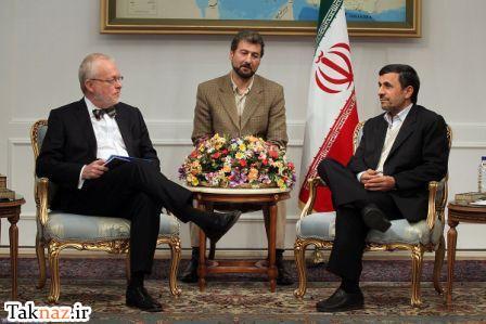 واکنش جالب احمدی نژاد به بی ادبی سفیر سوئد (+عکس) www.campfa.ir