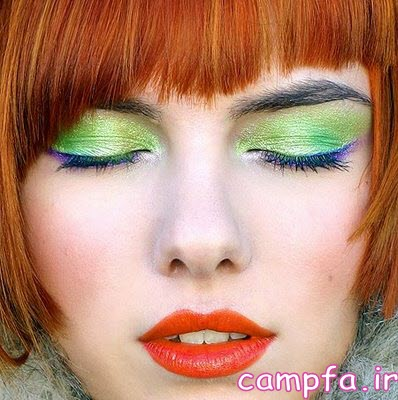 استفاده از رژ لب نارنجی در آرایش صورت