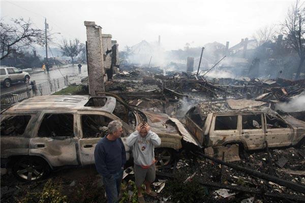 تصاویر جدید از طوفان ویرانگر سندی در آمریکا