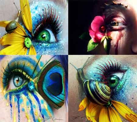 طراحی های هنری و زیبا روی چشم