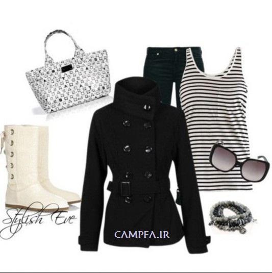 CAMPFA.IR ست لباس سیاه و سفید زنانه 2013
