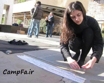 اقدام جالب دختر ایرانی برای اعتراض به تحریم ها +عکس | www.campfa.ir
