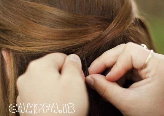 آموزش تصویری یک بافت موی ساده و شیک www.campfa.ir