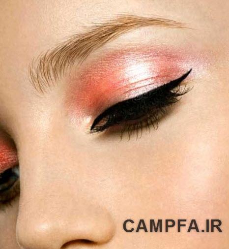 انتخاب رنگ سایه ی برای چشم های مختلف www.campfa.ir