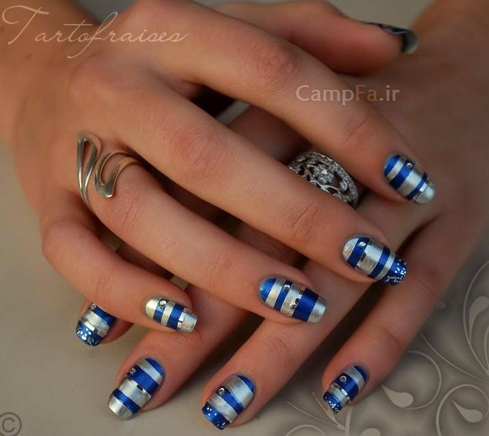 جدید ترین مدل طراحی روی ناخن بسیار زیبا| wWw.CampFa.ir