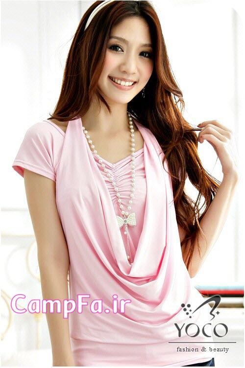 مدل بلوز مجلسی صورتی دخترانه کره ایی www.CampFa.ir