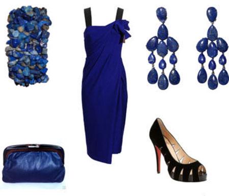 مدل لباس شب آبی رنگ www.campfa.ir