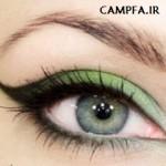آموزش گام به گام آرایش چشم به رنگ سال 2013
