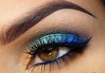 بهترین رنگ های سایه برای چشمان قهوه ایی