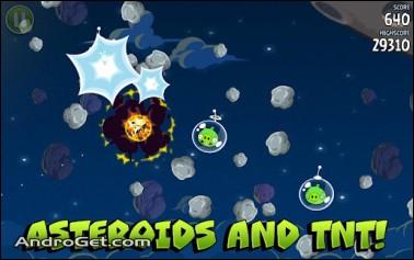 دانلود پرندگان خشمگین فضانورد با مراحل اضافه Angry Birds Space HD v1.3.0 2