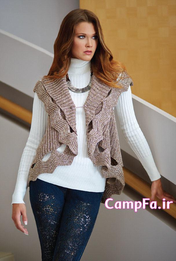ژاکت بافتنی, لباس بافتنی دخترانه , مدل لباس زمستانی , مدل لباس بافتنی 2014