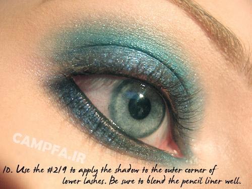 آموزش مرحله به مرحله آرایش سایه چشم - www.campfa.ir