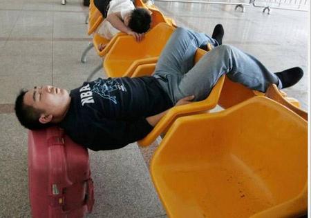 کی تا حالا اینجوری خوابیده ؟ (عکس)