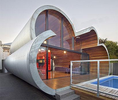 جدیدترین طراحی خانه در استرالیا، خانه ابری شکل - www.campfa.ir