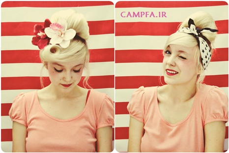 آموزش تصویری درست کردن مدل موی گوجه ای جدید www.campfa.ir
