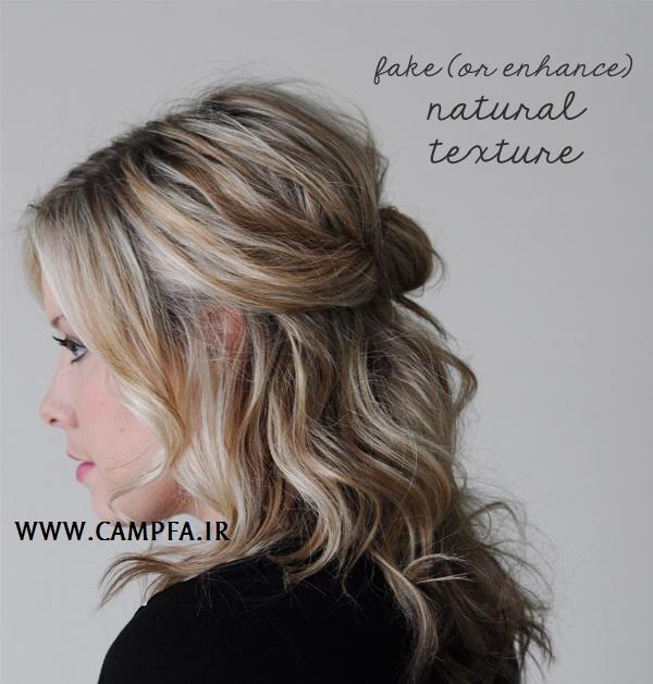بافت موی زنانه اروپایی