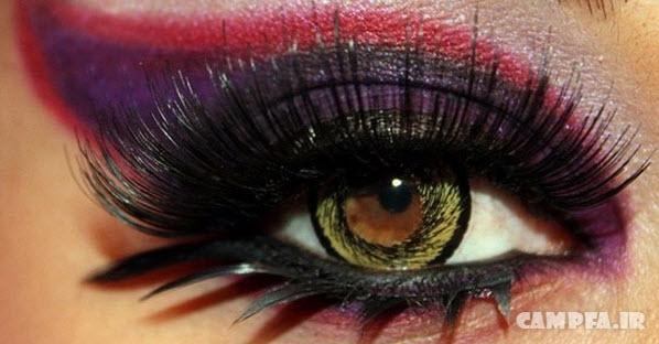 گالری تصاویر آرایش چشم و مژه ۲۰۱۳ برای عروسی و میهمانی | www.campfa.ir