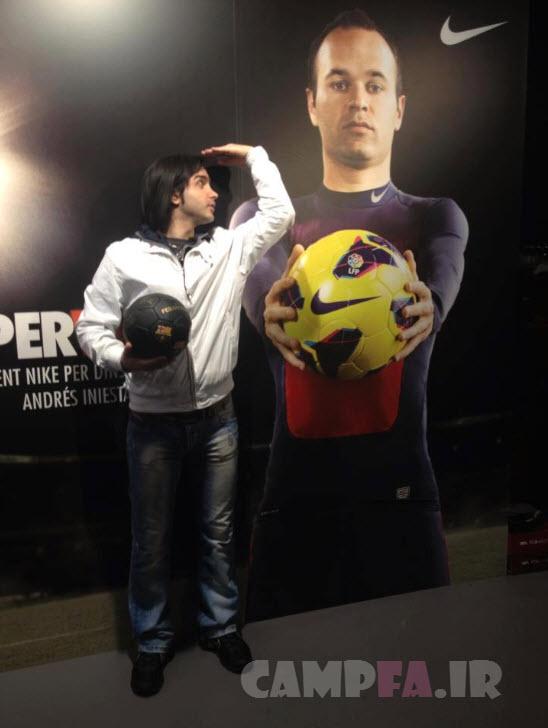 عکس: حضور محسن یگانه در دربی بارسلونا ! | www.campfa.ir