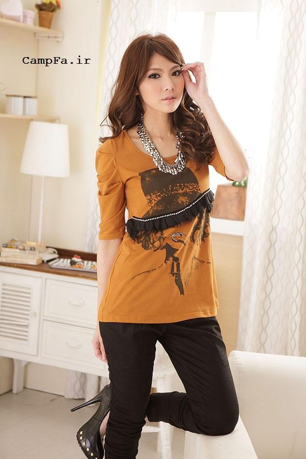 مدل جدید تی شرت دخترانه کره ای 2013 | www.campfa.ir