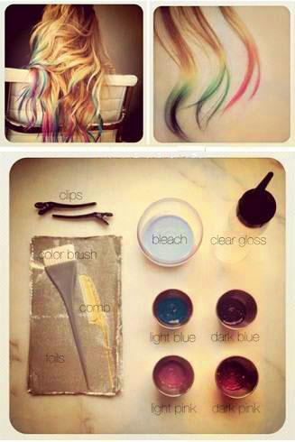 آموزش رنگ موی فانتزی (تصویری)-www.campfa.ir