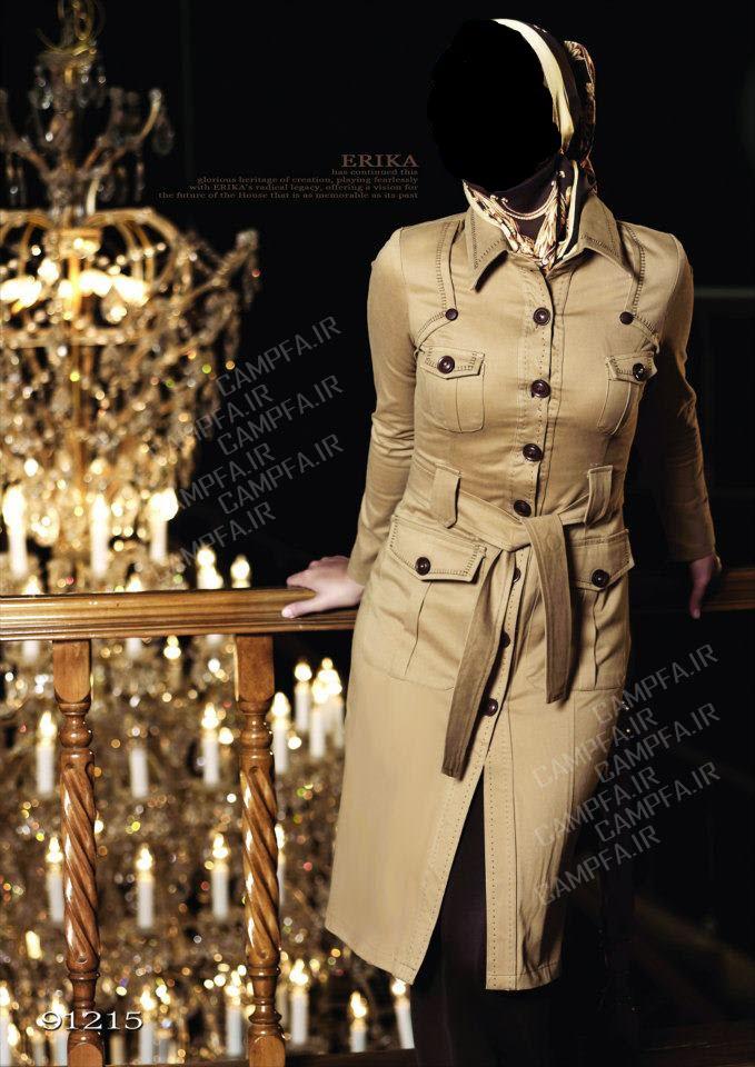 مدل های شیک مانتو ایرانی طرح اریکا 2013 - www.campfa.ir