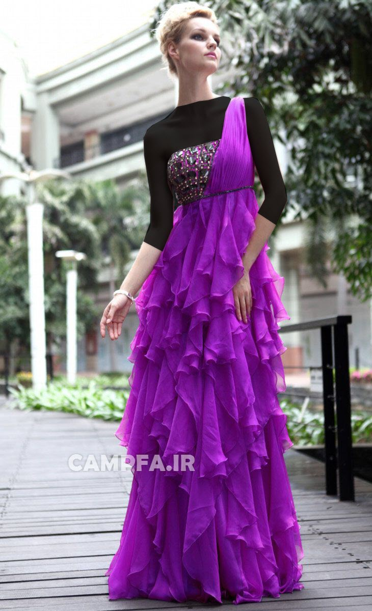 مدل لباس مجلسی بنفش 2013 www.campfa.ir