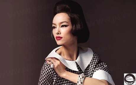 تصویر نخستین مدل چینی در مشهورترین مجله مد ایتالیا +عکس  مجله مد وگ